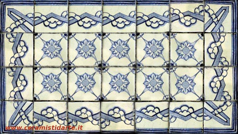 piastrelle decorate in stile antico nastro
